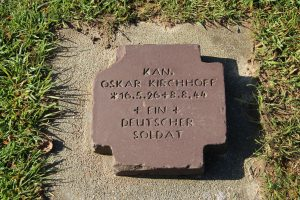 Headstone at the German cemetery in Normandy France