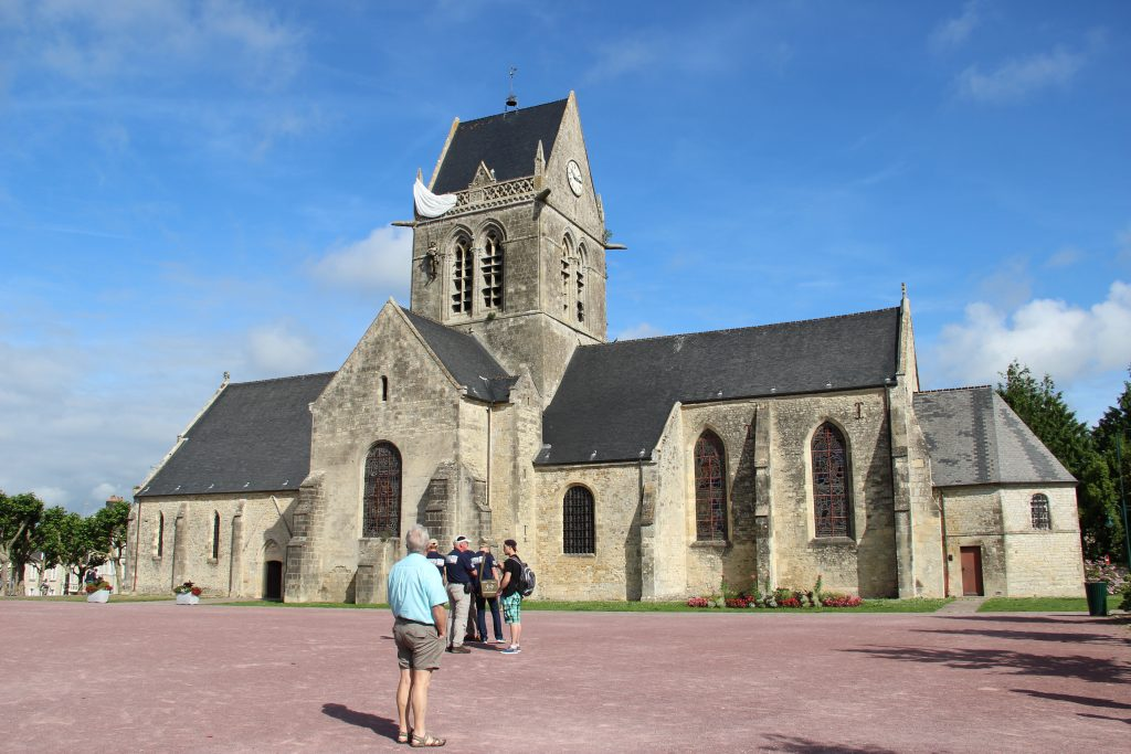 Sainte Mere Eglise in Normandy, France