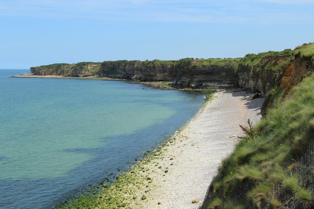 The cliffs of Pointe du Hoc in Normandy France