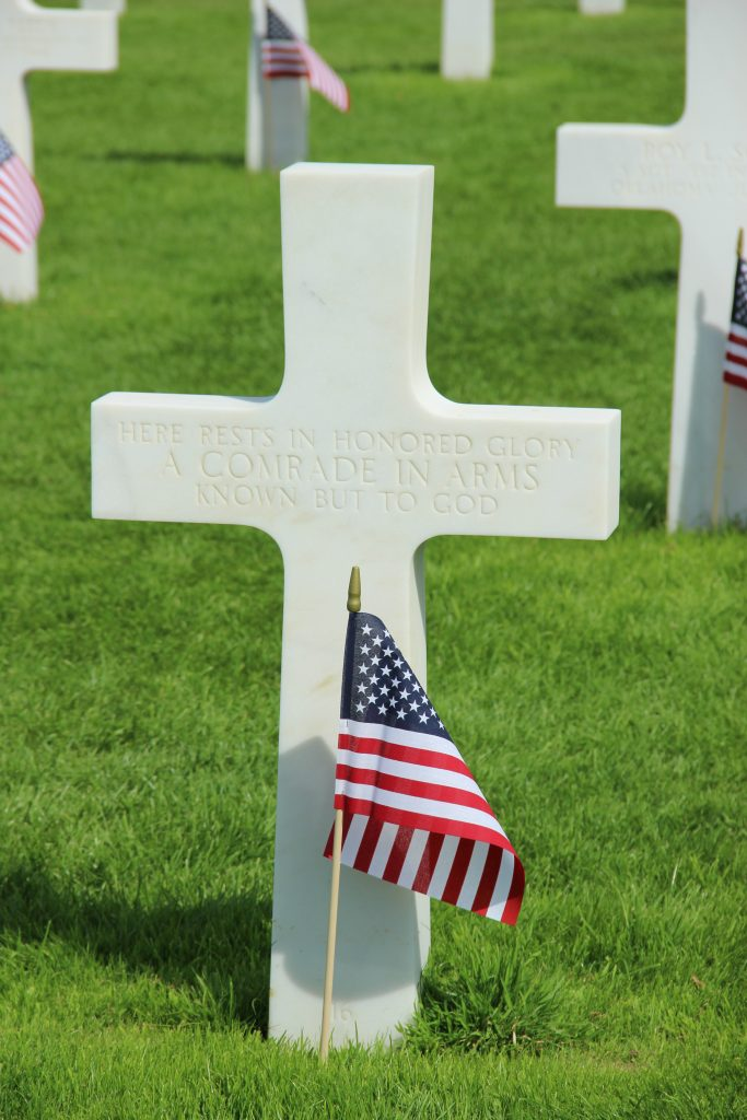 Cross of an unknown soldier