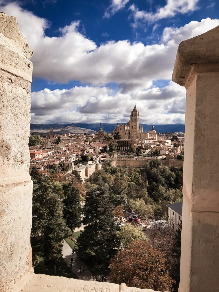 View from the roof of the Segovia castle in Spain