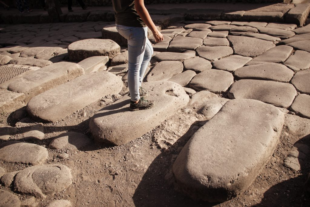Stepping stones in the streets of Pompeii