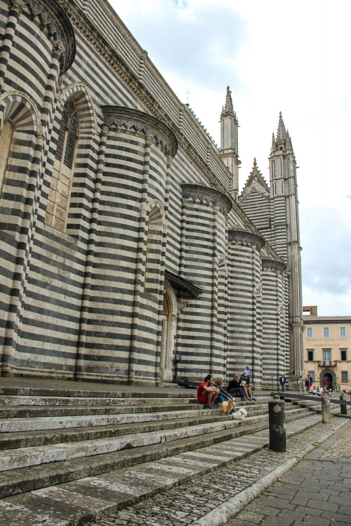 Striped duomo in Orvieto Italy on a day trip